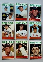 Lot of 9 1964 Topps BOSTON RED SOX vintage baseball cards Carl YASTRZEMSKI