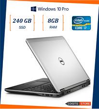 """pc portatile notebook usato ricondizionato 12,5"""" 8gb SSD 240GB DELL E7240 i7"""
