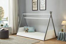 Scandinavian Wooden Kid's Bed 3ft Single in White & Grey