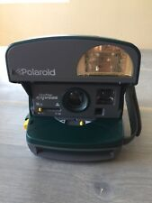 Polariod One Step Express 600 Camera And Case Green