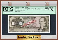 "TT PK 204b-CS1 1952 PARAGUAY 10,000 GUARANIES ""SPECIMEN"" PCGS 67 PPQ SUPERB"