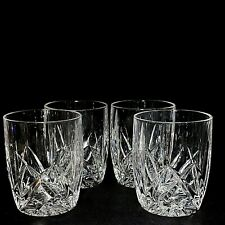 4 (Four) WATERFORD Marquis BROOKSIDE Cut Crystal Over-sized Old Fashion-Signed