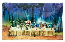 V Syndicate Rolling Tray-Glass (Alice Tea Party) 6.25'' x 10''