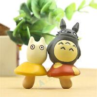 2pcs/set My Neighbor Totoro Mushroom Home Garden Decoration Toys Figure Toy New
