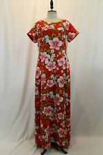 635a756c4b88 Vintage Ui-Maikai Hawaiian Floral Print Maxi Dress Boho Hippie Retro XL