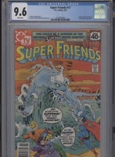 SUPER FRIENDS #17 NM 9.6 CGC WHITE PAGES TIME TRAPPER APP. FRADON COVER AND ART