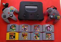 Nintendo 64 Console + Super Mario 64 Mario kart GoldenEye 007 Smash Bros Zelda