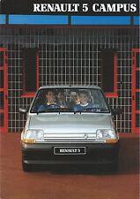 Renault 5 Campus UK Market Brochure 1990 Excellent Cond Inc 1.1 1.4 3&5 Door
