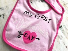 My First Valentine's Day 0-12 Months Baby Bib