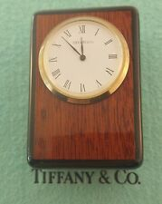 Authentic Vintage Pre-owned Tiffany & Co Table-top Wooden Case Small Clock.