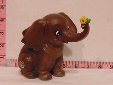 "Josef Originals Ceramic Elephant Holding Flower With His Trunk 4"""