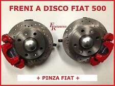 KIT FRENI A DISCO FORATI FIAT 500 TUTTI I MODELLI F L R BRAKE DISCS