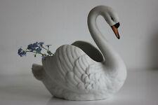 Cygne Jardinière en Biscuit  Garden Swan