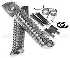 Aluminum Front Footrest Foot Pegs Set For Yamaha Honda Kawasaki Motorcycle