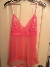 Victoria's secret pink transparent lingerie size L