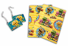 GIFT WRAPPING PAPER Sheet  Roll CHRISTMAS BIRTHDAY with tag Henry Hugglemonster