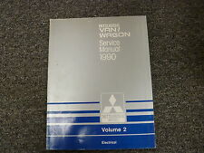 1989 Mitsubishi Van Wagon Electrical Shop Service Repair Manual Vol 2 Ls 2.4L
