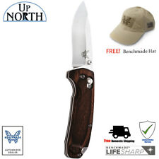 BENCHMADE HUNT 15031-2 North Fork Folding Knife G10 Handle FREE HAT