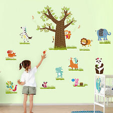 Kid's Zoo Wall Stickers Animal Pattern Home Decoration Art Decal Paper