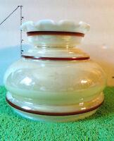 Milk Glass Lamp Shade,Tan/Brown/White,  Collectible Home Decor