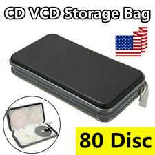 80 Disc Plastic CD DVD VCD Carry Case Holder Storage Organizer Bag Album Wallet