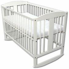 Lit Bébé Lit Enfant Lit à Barreaux Kuffenbett 120x60 Blanc Avec Matelas Neuf