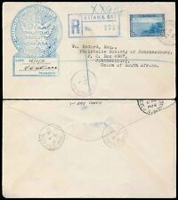 CANADA 1938 FDC OTTAWA REGISTERED PHILATELIC SOC.to SOUTH AFRICA + POSTAGE DUE