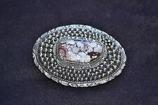 Handmade Sterling Silver & Wild Horse Appaloosa Belt Buckle