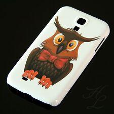 Samsung Galaxy S4 Hard Case Schutz Hülle Design Handy Eule Schleife Owl Etui