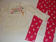 Gymboree Cheery All The Way Girls Size 5T Snowflake Top Dog Puppy Leggings Nwt