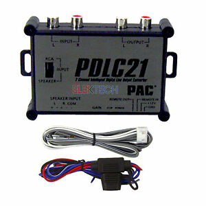 PAC PDLC21 2-Channel Digital Line Output Converter Intelligent RCA Outs Amp New