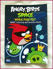 ANGRY BIRDS SPACE JUMBO 96p ACTIVITY & COLOURING IN Colour-in BOOK Color - New