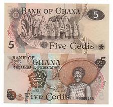 GHANA 5 CEDIS 1977 PICK 15 UNC