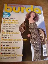MAGAZINE BURDA LES BLANCS D'HIVER TENUES DE SOIREE LAINES ET FOU 2000