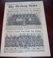 The hockey news vol 11 no.31 May 1958 Montreal /  Hershey / All Star Teams