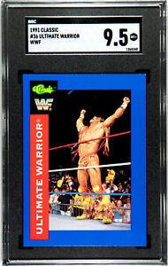 1991 CLASSIC WWF #36 ULTIMATE WARRIOR SGC 9.5 MT+ #1368348