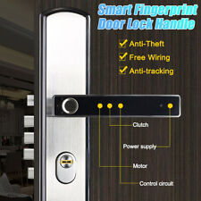 Electronic Smart Fingerprint Handle Door Lock Security Keyless With Battery  #