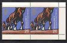 GB 1999 sg2108a Horse Drawn Seed Drill Farmers Tale Booklet Pane MNH