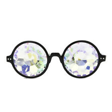 Rave Festival Round Kaleidoscope Rainbow Glasses  Diffraction Crystal Lens