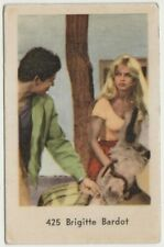 Brigitte Bardot Film Star Dutch Gum Trading Card - 1962 #425 E3