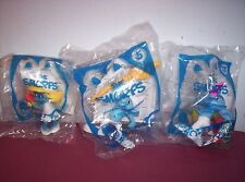 2011 McDonald's  The Smurfs Set of 3 #2 Smurfette #5 Clumsy #13 Grouchy