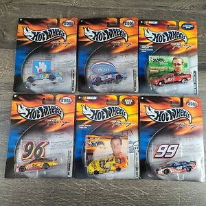 Lot Of 6 Hot Wheels 2001 Pro Racing Nascar Diecast 1/64 Scale with Sticker
