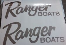Pair of Large Ranger Boat decals in Premium Chrome vinyl 22inch sticker