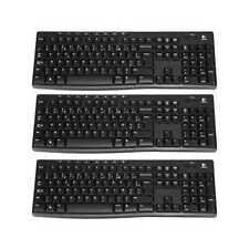 3 x Logitech Wireless Keyboard k270, teclado, diseño de Bélgica, AZERTY
