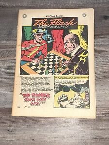 All Flash Quarterly 29 DC 1947 Vintage Golden Age FC missing nice interior