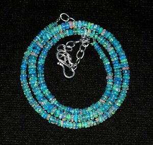 chain Beautiful 100/% Natural 2 to 5 mm Ethiopian Fire opal Roundel Beads  Necklace Opal Beads Opal STRAND Beads --B2242