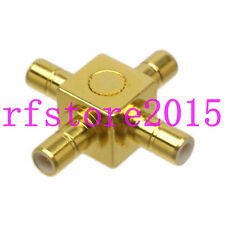 1pce Adapter Connector SMB 1 male to 3 male 4 way cross+ RF Splitter Adapter
