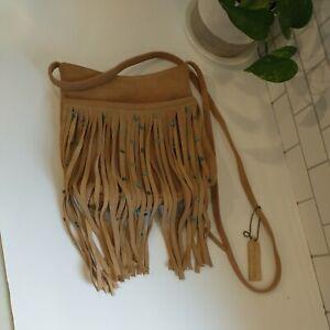 Paradox Fringe leather Bohemian Leather Bag southwest crossbody boho