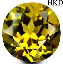 1.07 ct HKD-certified Unheated Natural Round-cut Yellow IF Tanzanite (Tanzania)