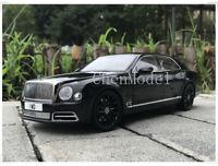 Bentley Mulsanne Centenary edition 2017 Metal Diecast Model Car 1:18 Scale Black